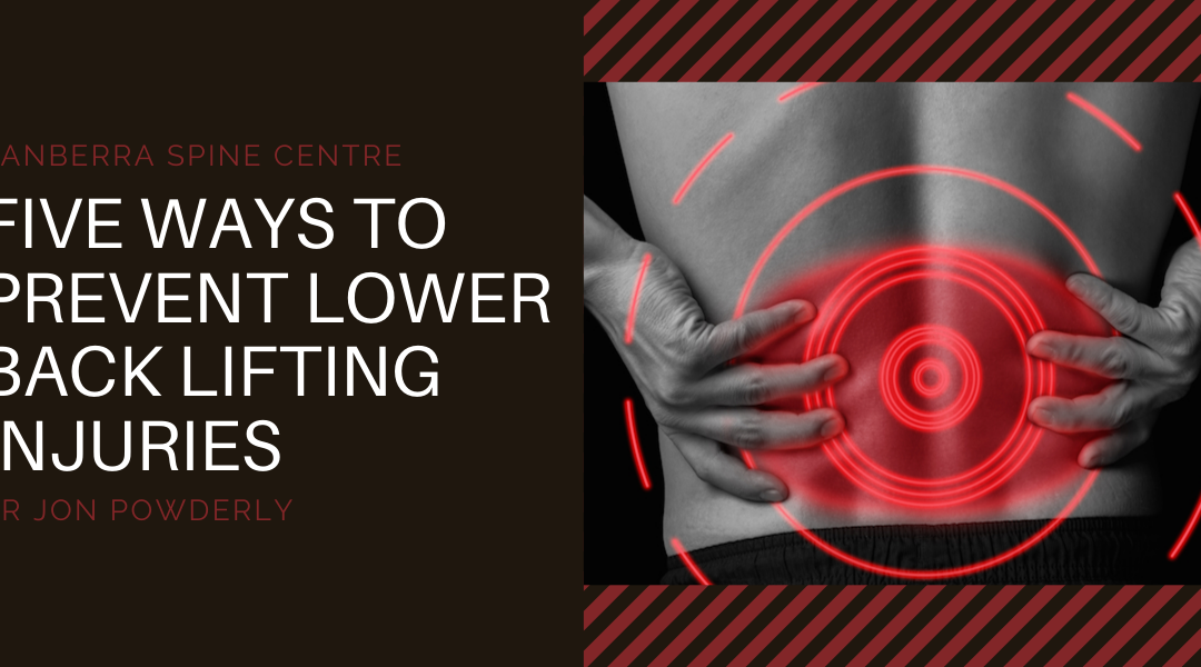 Five Ways to Prevent Lower Back Lifting Injuries