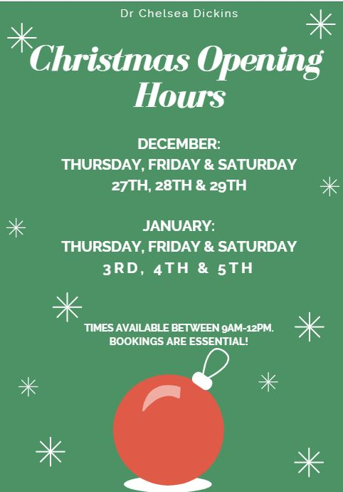 Canberra Spine Centre Holiday Opening Hours