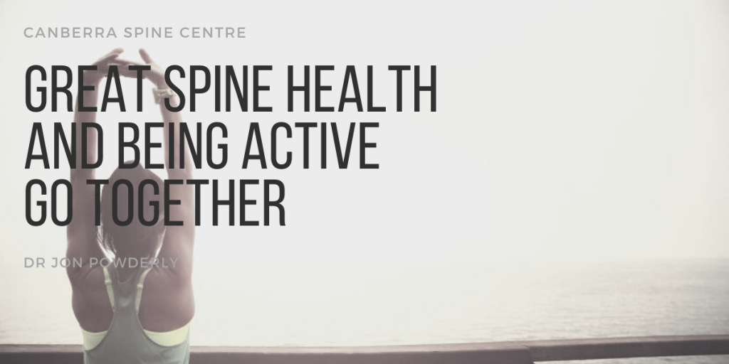 great spine health and being active go together banner