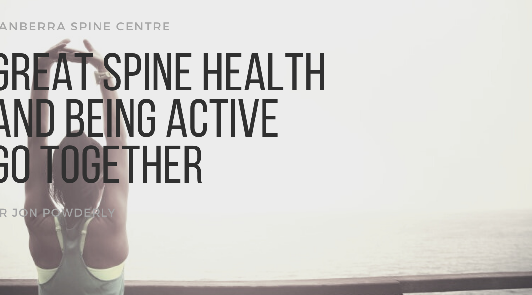 Great spine health and being active go together