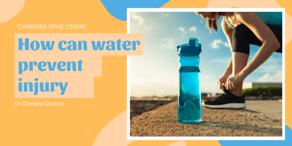 how can water prevent injuries canberra spine centre