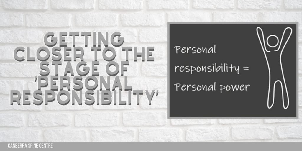 getting closer to the stage of personal responsibility