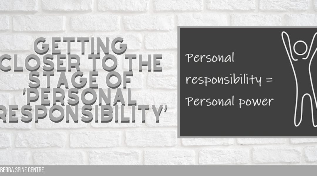 Getting Closer to the Stage of 'Personal Responsibility'